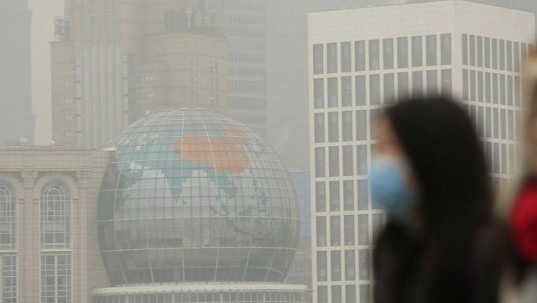La pollution de l'air en chine provoque 4 000 morts chaque jour.