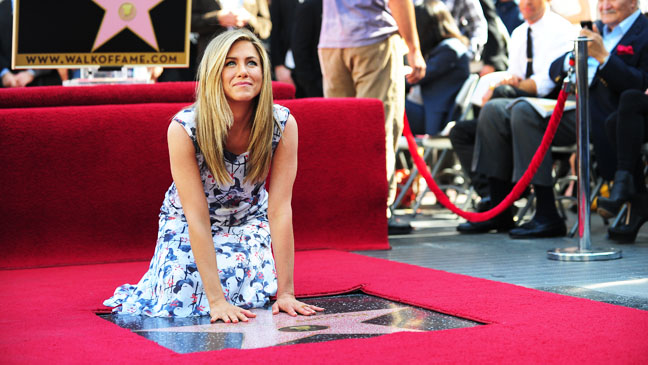 Jennifer Aniston sur le Walk of Fame